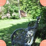 Fauteuil de jardin en fonte d'Arras au jardin