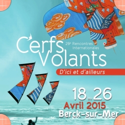 International Kite Festival Berck sur mer Northern France from 18 - 26th April 2015